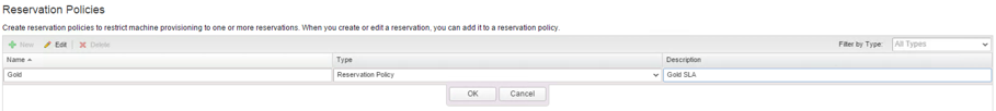 Picture of the GUI that shows how reservation policies work