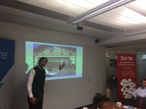 Johan van den Boogaart explains how to get to the Zerto-sponsored Oktoberfest party.