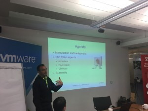 Dr. Udo Seidel, OpenStack guru working for Amadeus presents their lessons learnt with implementing VMware Integrated OpenStack (VIO)
