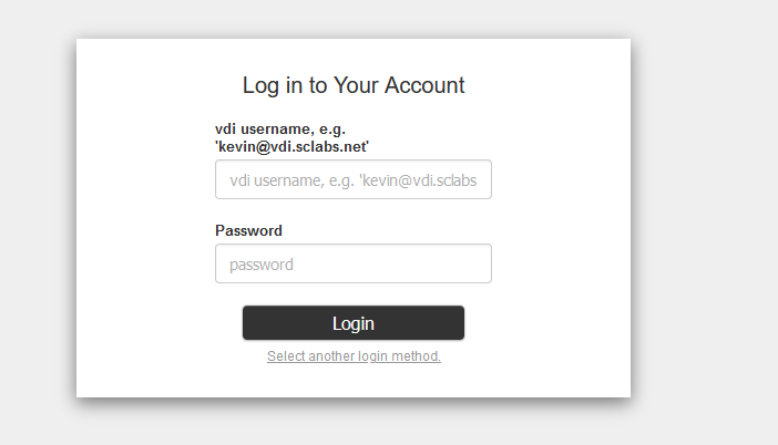 configured LDAP login
