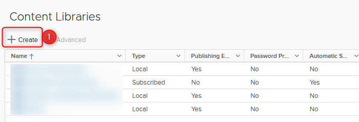 setting up the content library step 2