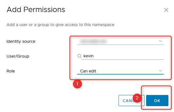create namespace step 5